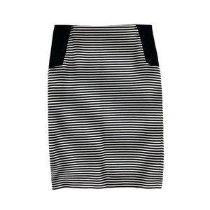 BCBGMAXAZRIA Striped Skirt Work Office